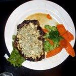 Cheese encrusted steak