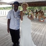 Me with Eric (just after ceremony) Every Woman's Dream Wedding Planner/Organizer . Thank You Eri