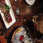 Ahi tuna, filet mignon and fresh oysters
