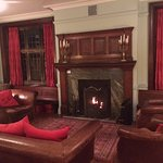 The reading room, where guests can read papers, have a cup of tea or a glass of wine...