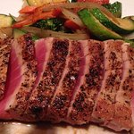 HINOKI Grilled Tuna Steak with steamed vegetables