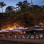 Clube de praia com restaurante
