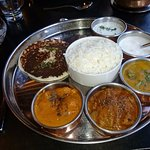 Gluten free non vegitarian Thali for lunch for £9.95