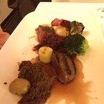 deer meat tasting platter