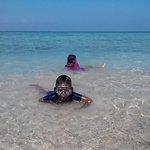 beatiful beach with happy kids