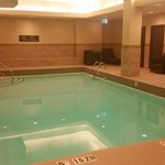 Pool and gym is located on the lower level of the hotel.