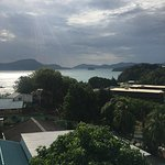 James and his daughter And the beautiful views over Phuket town and chalong beach