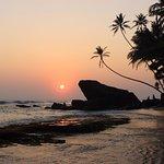 Beautiful sunsets seen every night at the Sri Gemunu Hotel.