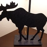 Lakefront Anchorage - detail of the 'moose' lamp in our guestroom