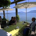 Herrliche Aussicht, die Gartenwirtschaft ist direkt am See gelegen