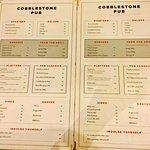 Cobblestone pub and menu