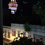 View of Galata Tower from our bedroom window.