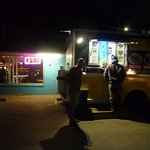 Bar and Mexican food truck.