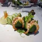Avocado and prawns