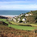 On the walk down to Woolacombe