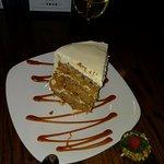 Carrot Cake - yuge freaking slice!
