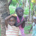 "Local village children welcoming the "" Jambo's """
