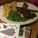 Kid's steak and chips