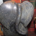 A little elephant made of soapstone, from eons ago.