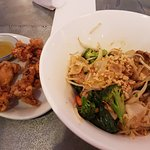 flat rice noodle with Malay (peanut) sauce with pork