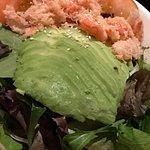 Jalapeño sirloin and crab salad