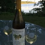 Enjoying a bottle of wine on the Sunset Lodge property