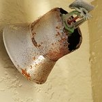 rusted out fire safety water sprinkler