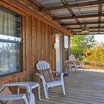 Sunshine Cabin's private porch.