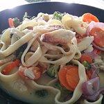 Crab leg pasta