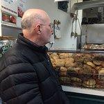 Me pondering the wonder of New York bagels.