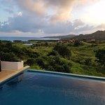 Sunrise view of Pristine Bay from villa 1211