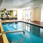 Indoor swimming pool and jacuzzi at Montgomery Inn and Suites