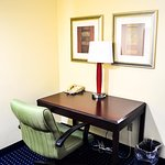 Desk in room at Montgomery Inn and Suites