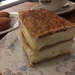 Cappuccino and tiramisu at Cafe Creme. Just right!