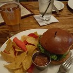 Merchant Fish Sandwich with Tortilla Chips and Salsa
