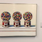 Gumballs by Wayne Thiebaud - are very close to the Cafe....