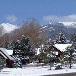 Winter Scene over resort