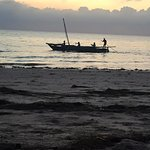 Sunrise means the fishing boats embark from neighboring villages.