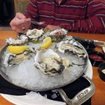 Nice juicy fresh oysters