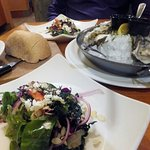 Our starters of sourdough bread, fresh oysters and Special Salad