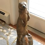 Otter sculpture in the sunny breakfast room