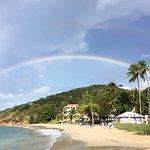 Rainbow over the beach at Bluebeards
