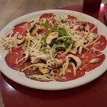 Carpaccio - larger than it looks, easily as wide as a pizza