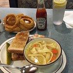 Half Sandwich & Chicken Soup