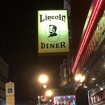 sign out front of the Lincoln Diner