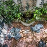 The charming courtyard, as seen from above.