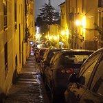 Damp October night on the street outside Don Jaime.