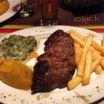 500g Blackened matured rump steak.