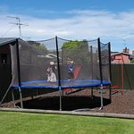 safety trampoline and swing