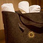 Die Badetasche, Ihr Begleiter in den Spa-Bereich der Sonnenburg